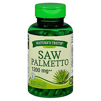 Nature's Truth Nature'S Truth Saw Palmetto Quick Release Capsules, 1200 mg, 120 Caps