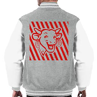 Den grinende Cow Red Stripes Mænds Varsity Jacket