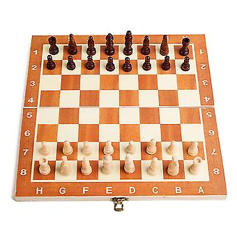 Wooden Plaid 30*30cm Chess Portable Plastic Folding Board With Magnetic Chess Game Mini Chess Set