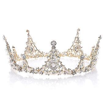 Queen Baroque Bridal Tiara Crowns Crystal Queen Princess Diadem Headwear