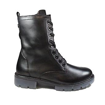 Caprice 25251 022 Black Leather Womens Ankle Boots