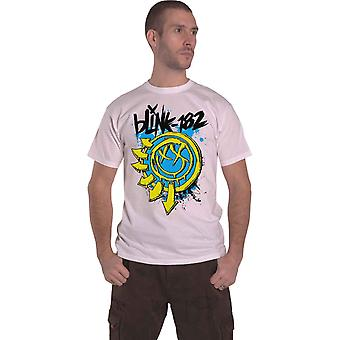 Blink 182 T Shirt Smiley 2.0 Band Logo new Official Mens White