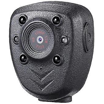 ميني المحمولة الأمن 1080P 32GB الذاكرة رؤية ليلة الكاميرا، ومناسبة للمنزل في الهواء الطلق (أسود)
