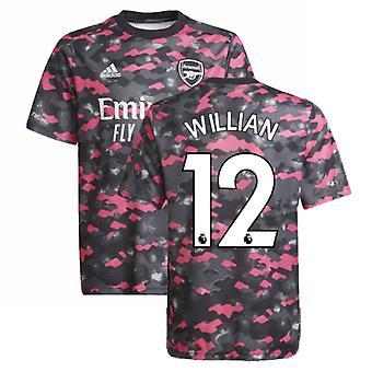 آرسنال 2021-2022 قميص ما قبل المباراة (وردي) - أطفال (ويليان 12)