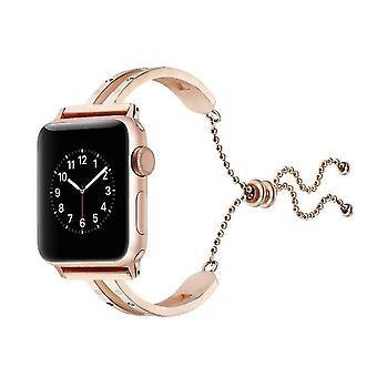 Cinturino universale in acciaio inossidabile per Apple Watch Generazione 3/2/1 42mm Oro Rosa