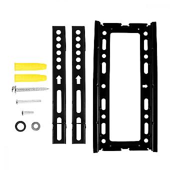 Universal Tv Stand Lcd Tv Wall Mount Integrated Adjustable Steel Rack Wall Bracket Fit For 17-43 Inch Television (1.2mm Thickness, Black)