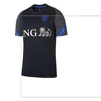 Camiseta de entrenamiento Holland Nike 2020-2021 (negra) (V.NISTELROOY 10)