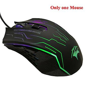 Silent click usb wired gaming mouse 6 buttons 3200dpi mute optical computer mouse gamer mice for pc laptop notebook game