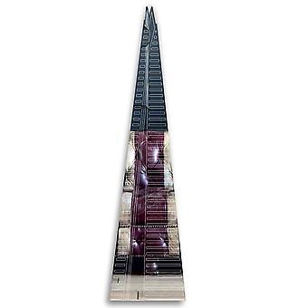 Лондон с гравировкой на акриловом зеркале Shard Building