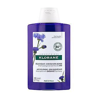Klorane Centaury (blåklint) schampo för grått/vitt hår 200ml