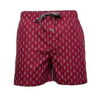 Cyberjammies Frankie 6646 Men's Burgundy Red Paisley bumbac Pyjama scurt