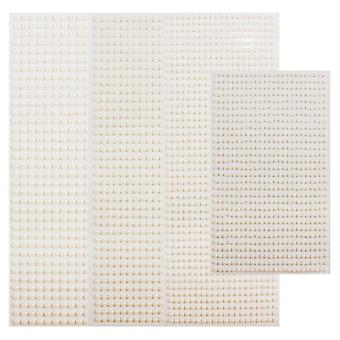 3mm/4mm/5mm/6mm 3d Pearl Face Jewels Eyeshadow Stickers Self