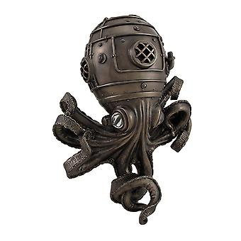 Tenture murale d'incroyablement Cool Steampunk Diver Octopus