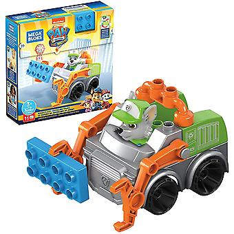 Mega Bloks Paw Patrol The Movie: Rocky's City Recycling Truck Set