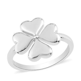 Rachel Galley Leaf Kleeblatt Ring für Frauen in Platin Platt silber(R)