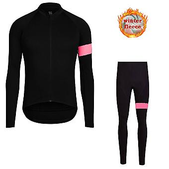 Hiver Thermal Polaire Cyclisme Jersey Set Hommes New Mountian Bicycle Vêtements Porter Ropa Ciclismo Racing Bicycle Vêtements Cyclisme Set