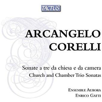 Enrico Gatti & Aurora Ensemble - Arcangelo Corelli: Kirche und Kammer Triosonaten OP. 1-4 [CD] USA importieren