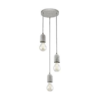 Eglo SILVARES Concrete Hanging Ceiling Light Pendant