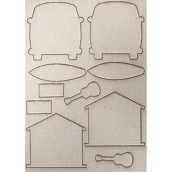 Creative Expressions Pop-ems Greyboard Diecut Shapes  Gone Surfing*^^