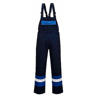 Portwest - Bizflame Plus Flame Resist Hi-Vis Safety Workwear Bib and Brace