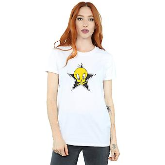 Looney Tunes Women's Tweety Pie Star Boyfriend Fit T-Shirt
