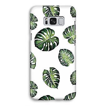 Samsung Galaxy S8 volledige Print geval (Glossy) - tropische bladeren