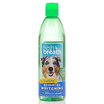 Tropiclean Fresh Breath Advanced Whitening Oral Care Water Additive  With 3D Microguard
