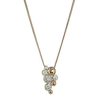 Esprit Damen Kette Collier Silber Rotgold ESNL92993B420
