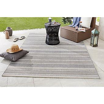 Design et Outdoorteppich plat gris argent Bracelet tissu