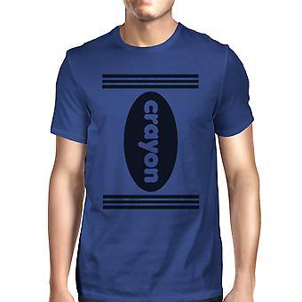 تلوين القميص الأزرق رجالي الرسم جولة الرقبة هالوين المحملة القميص