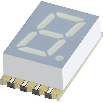 Kingbright Seven-segment display Yellow 7.62 mm 1.95 V No. of digits: 1 KCSA 03-107
