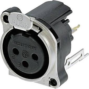 Neutrik NC3FBV2 XLR stik ærme socket, lige ben antal stifter: 3 sort 1 computer(e)