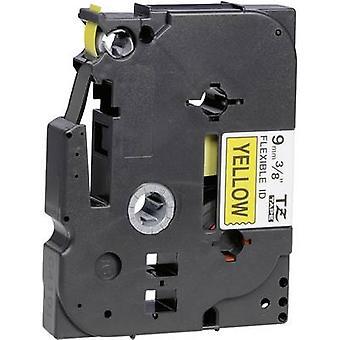 Labelling tape (flexible) Brother TZe-FX, TZ-FX TZe-FX621 Tape colour: Yellow Font colour:Black 9 mm 8 m