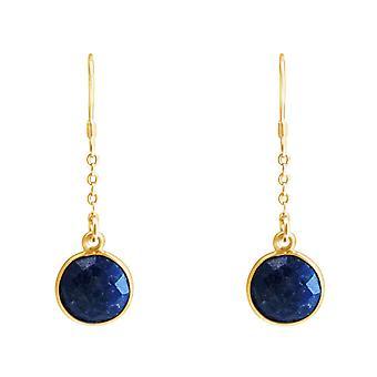 GEMSHINE korva korut 925 hopea, kullattu tai nousi sininen sapphires.