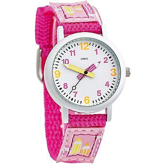 JOBO children watch pink quartz analog aluminium stainless steel watch