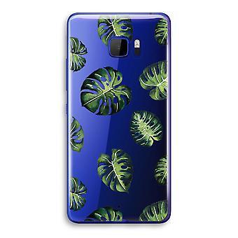 HTC U Ultra transparant Case (Soft) - tropische bladeren