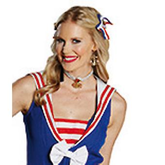 Orecchini Sailor golden ancorano accessorio Carnevale Carnevale