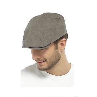 Mens Check Flat Cap Summer Fashion Hat 100% Cotton