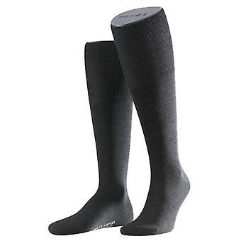 Falke Airport sokken knie hoge - antraciet