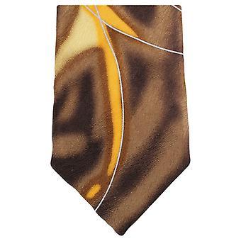נייטסברידג ' ללבוש מערבולת מים דפוס עניבה-חום/צהוב
