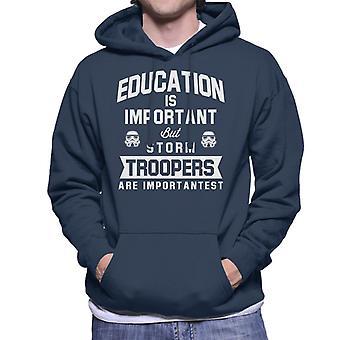 Originale Stormtrooper educazione è importante felpa con cappuccio
