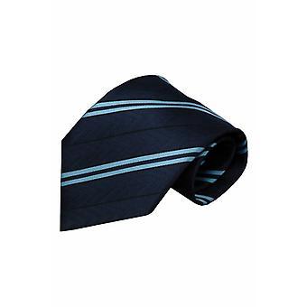 Blauwe zijden stropdas Aosta 01