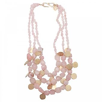Bcharmd Diana 3 String Rose Quartz Necklace