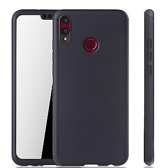 Huawei honor 8 X teléfono protectora caso completo funda tanque protección cristal, negro