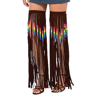 Hippie noga girlandy, frędzlami i koralikami