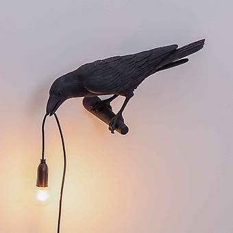 Seletti uccello lampada cercando edizione Applique In nero