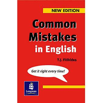 Common Mistakes in English - With Exercises by T. J. Fitikides - 97805