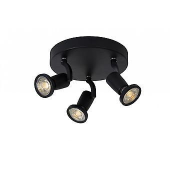 Inspiracja Jaster-LED nowoczesny okrągły metalowy czarny sufit światło punktowe