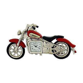 Miniature Red Indian Style Motorbike Novelty Collectors Clock -  9497Red