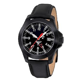 KHS watches mens watch black platoon GMT LDR KHS. BPGLDR. L